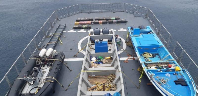Autoridades incautan dos cargamentos de cocaína en aguas del Pacífico