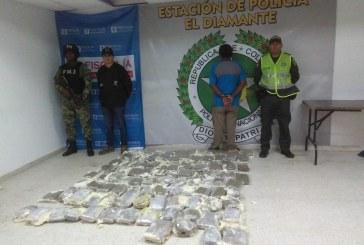 Capturan a hombre que transportaba 50 kilos de marihuana en el norte de Cali