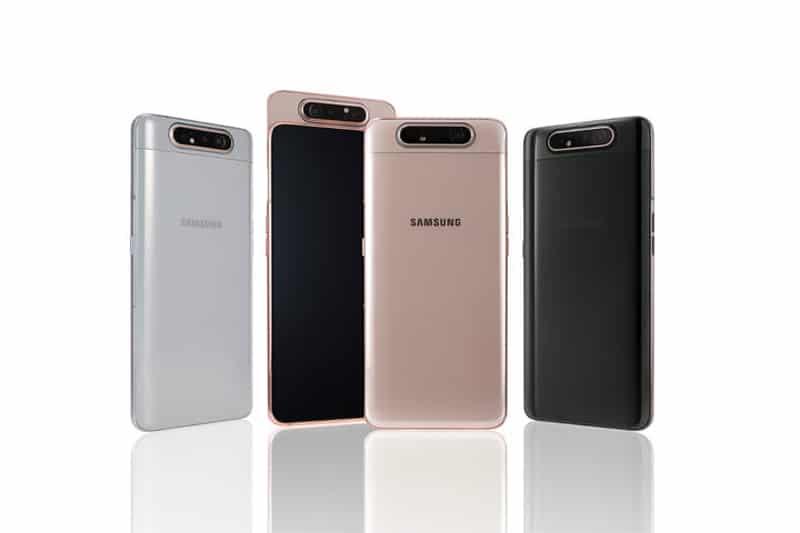 Samsung presentó al mundo su nuevo smartphone A80 con cámara giratoria
