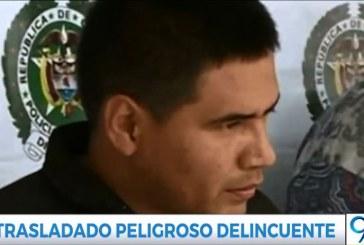 Trasladan a peligroso delincuente sindicado de 40 homicidios y extorsión al 'Tino' Asprilla