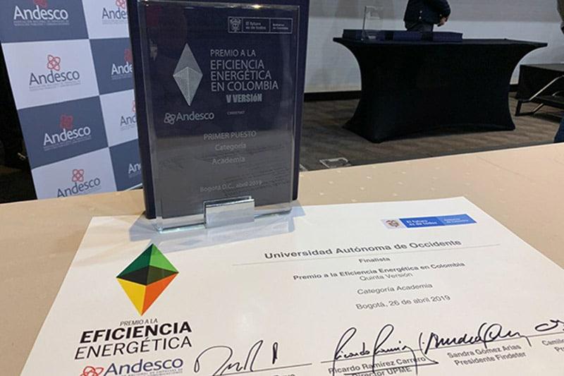 Andesco premió la especialización en Eficiencia Energética de la UAO
