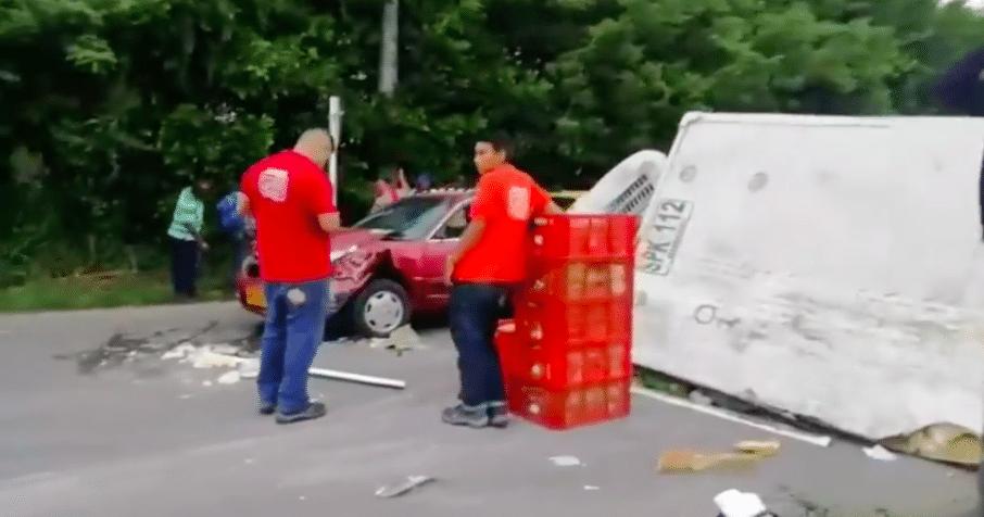 Cuatro personas heridas dejó accidente de tránsito en la vía Jamundí-Cali
