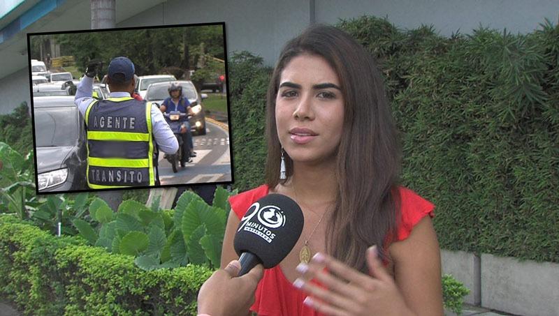 Universitaria caleña denunció acoso de guarda de tránsito al momento de multarla