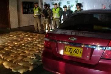 Autoridades incautan más de 300 kilos de marihuana en vehículo en el sur de Cali