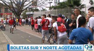 Hinchas agotaron boletería para tribunas norte y sur para América-Millonarios