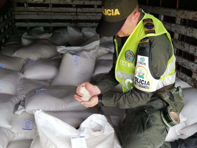 Autoridades incautan cerca de 10 mil kilos de arroz que irían a Cali de contrabando
