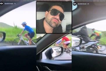 Supuesto influencer y periodista insultó a ciclistas que subían por el km 18
