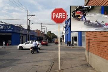 Por ola de accidentalidad, piden señalización en un cruce del barrio San Nicolás