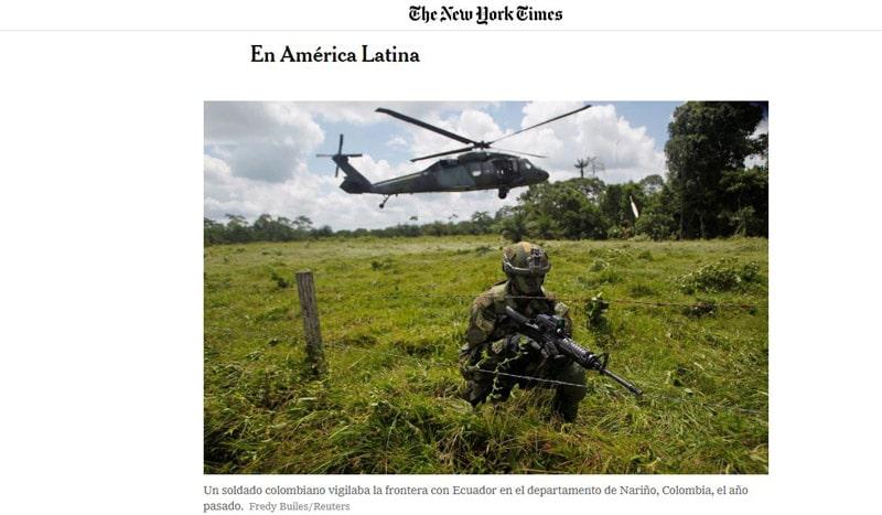 Periodista de NYT dejó Colombia tras denuncia de asesinatos extrajudiciales por Ejército