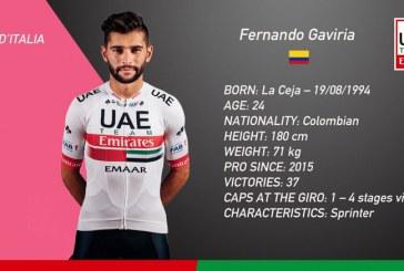 Triunfo del colombiano Fernando Gaviria en tercera etapa del Giro de Italia