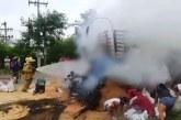 Dramático accidente de tránsito en vía Buga – Mediacanoa: hombre murió calcinado