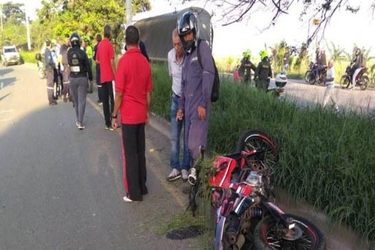 Accidente de tránsito dejó un motociclista muerto en la vía Cali – Palmira