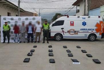 Capturados mientras simulaban misión médica para transportar 16 kilos de marihuana