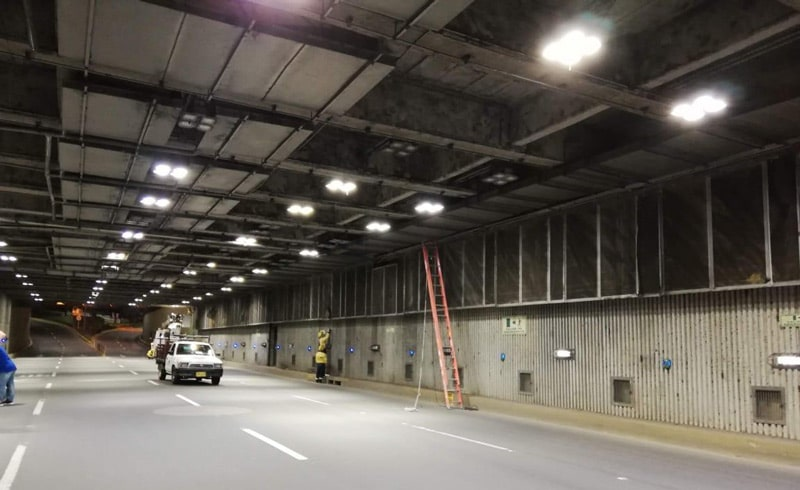 Este lunes cerrarán el túnel mundialista para reparar daño por robo de cableado