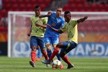 Colombia se despidió del Mundial Sub 20 de Polonia tras perder 1-0 con Ucrania