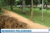 Jarillón del corredor deportivo y ecológico del barrio El Ingenio se está viniendo abajo