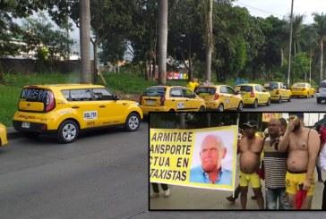 Taxistas de Cali iniciaron su manifestación en calzoncillos amarillos ¿Qué piden?