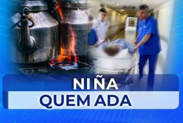 Menor de 2 años habría sido quemada por un líquido hirviendo por su madre en Pradera