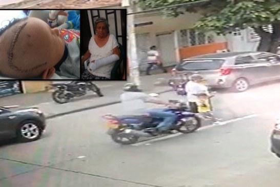 Video: buscan a motociclista que huyó tras atropellar a anciana y a un niño en Cali