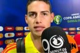 """""""Vamos por el buen camino"""", James Rodríguez tras victoria ante Catar"""