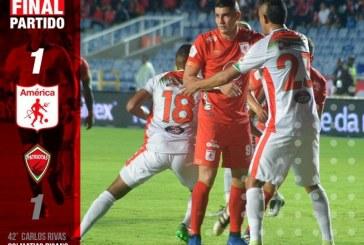 América rescató un empate ante Patriotas en el Pascual Guerrero