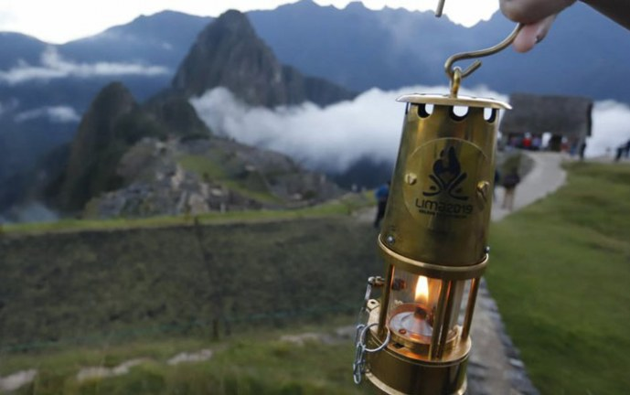 Antorcha de Juegos Panamericanos se enciende en ciudadela inca Machu Picchu