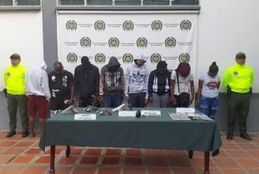 Caen 5 miembros de los 'JZ' o 'Bakas', banda dedicada a homicidios y extorsiones en Cali