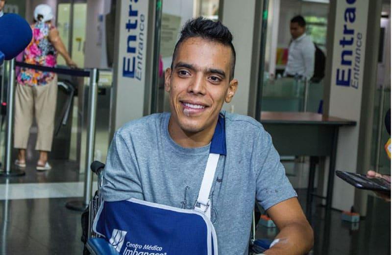 Járlinson Pantano sufrió fractura y esguince tras ser arrollado por carro en el sur de Cali