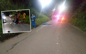 Video: joven ciclista falleció cuando descendía a alta velocidad en vía a La Buitrera