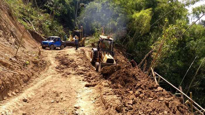 Muro de contención garantizará movilidad en vía Obando-Puerto Samaria