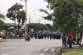 En gresca con Esmad terminó protesta de conductores de servicio 'Pirata' en Cali