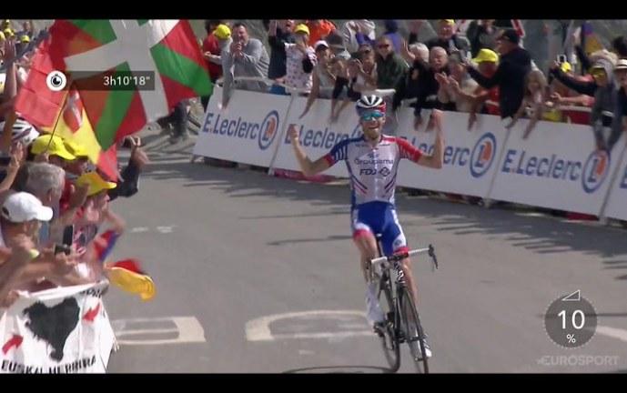 Thibaut Pinot ganó la etapa 14 del Tour de Francia