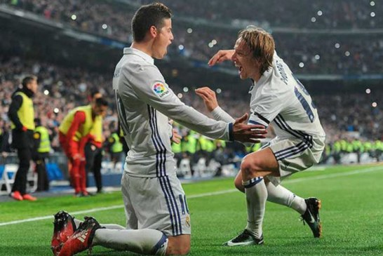 James Rodríguez retornó a los entrenamientos con el Real Madrid