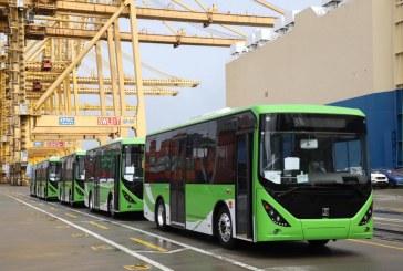 Llegó primera flota de buses eléctricos y a gas natural que funcionarán en el Mío