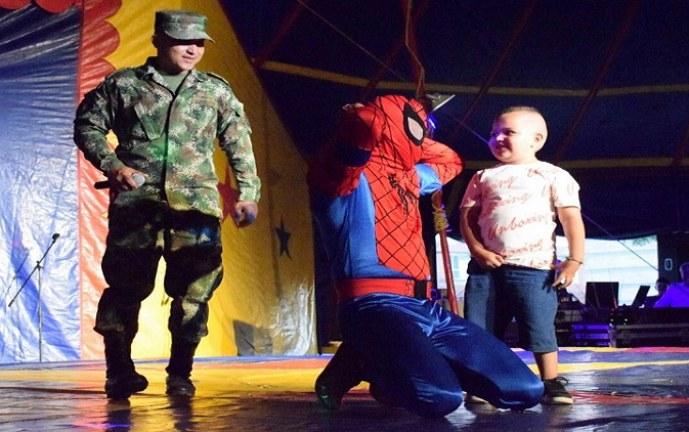 Llegó a Jamundí el circo del Ejercito Nacional