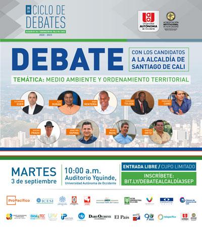 Así se vive el debate con los candidatos a la Alcaldía de Santiago de Cali en la UAO
