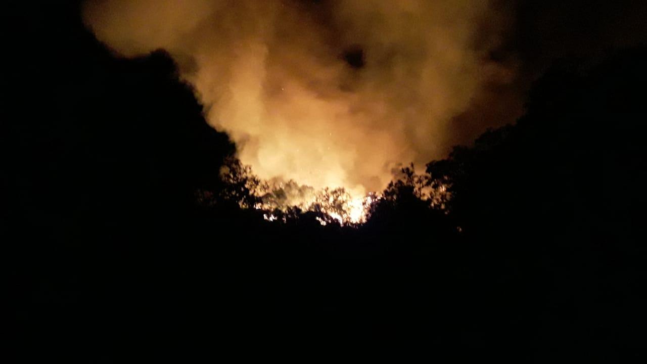 Bomberos combaten dos incendios forestales en zonas rurales de Cali