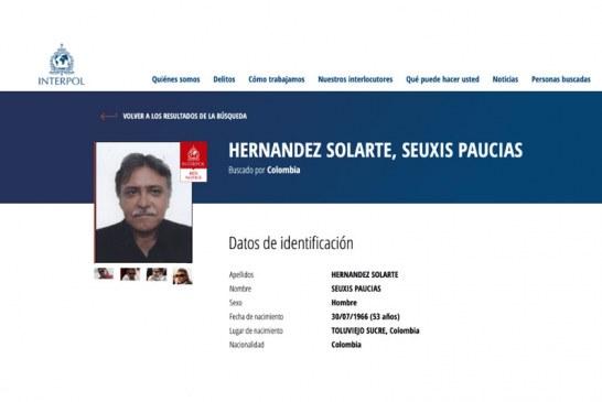 Interpol emite circular roja contra exlíder de las Farc 'Jesús Santrich'
