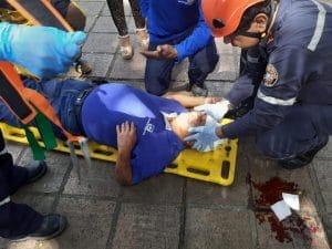 Luego de llamarle la atención a un hombre, cuidador del Bulevar del Río fue golpeado