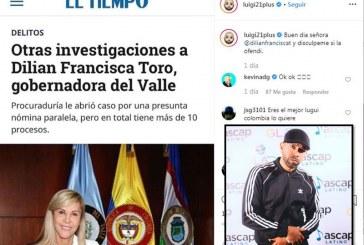 Luigi 21 Plus y Gobernadora del Valle se enfrentan en Instagram tras polémica publicación del cantante