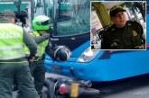 Falleció policía involucrado en accidente con bus del Mío en el centro de Cali