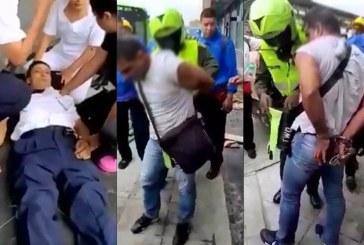 Brutal ataque a conductor del Mío por un hombre que quería colarse en el sistema