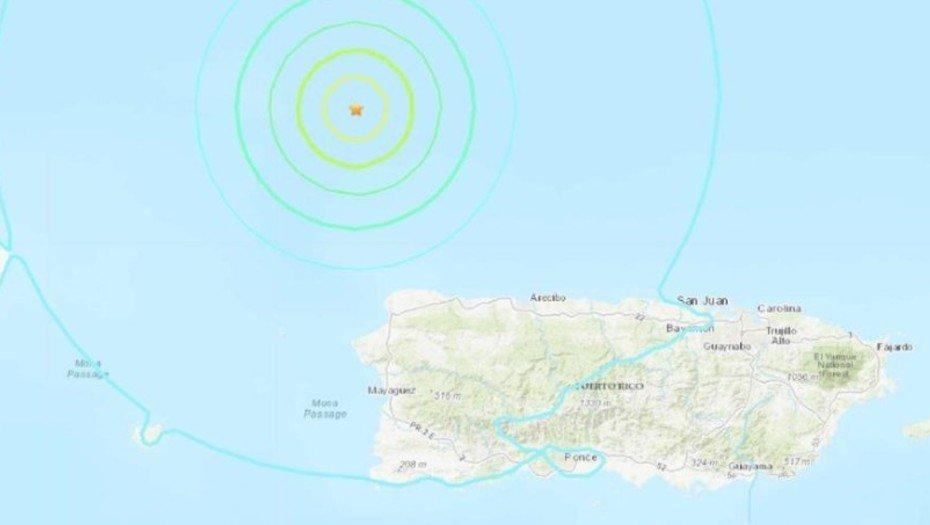 Se registra sismo de 6.3 en el norte de Puerto Rico