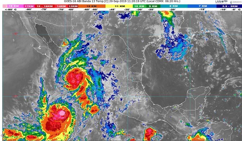 Emiten alerta roja por avance de tormenta tropical Lorena a Baja California Sur