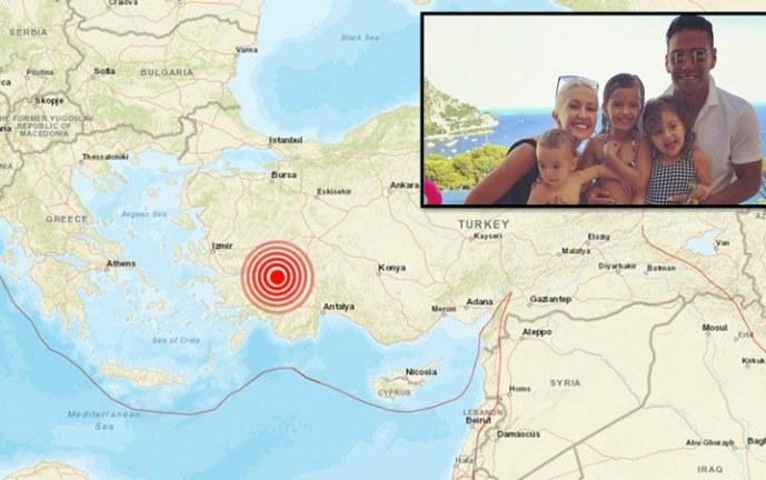 Falcao se reportó tras terremoto de magnitud 5,9 registrado en el oeste de Turquía