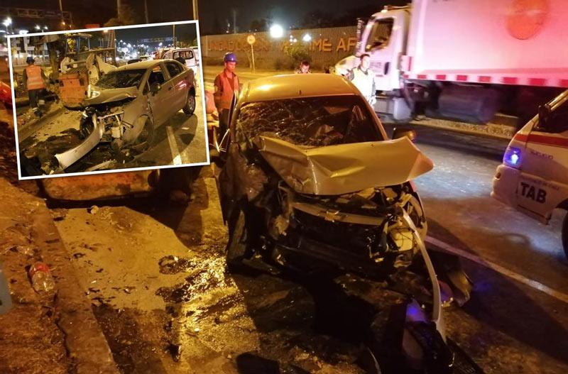 Grave accidente en autopista suroriental de Cali dejó dos personas heridas