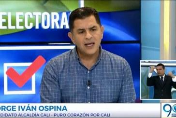 Jorge Iván Ospina habló de sus propuestas en materia de Movilidad, infraestructura y paz