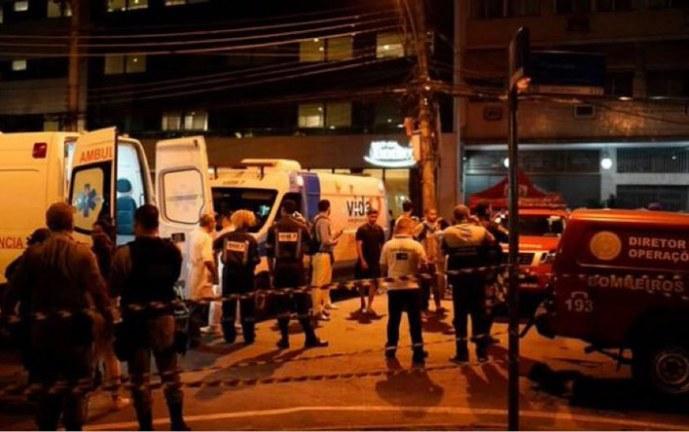 Al menos 11 muertos por incendio en un hospital en Río de Janeiro