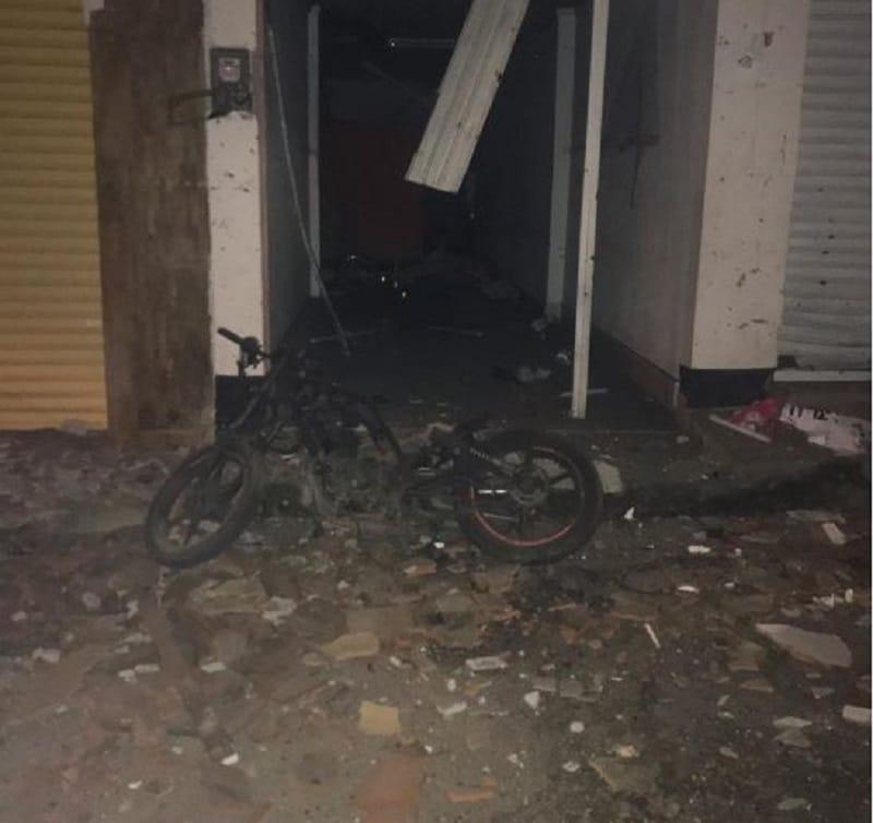 Pánico en Corinto por detonación de moto bomba en estación de Policía