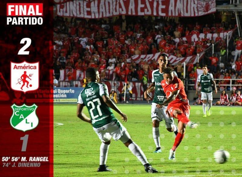 La fiesta es del rojo: América venció a Deportivo Cali 2-1 en el Pascual